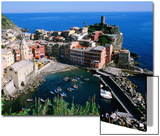 Vernazza and Harbour, Cinque Terre, Liguria, Italy Prints by John Elk III