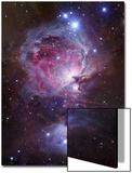 M42, the Orion Nebula (Top), and NGC 1977, a Reflection Nebula (Bottom) Poster von  Stocktrek Images