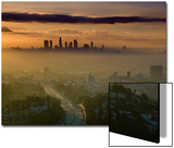 Dawn View of Downtown, Los Angeles, California, USA Posters by Walter Bibikow
