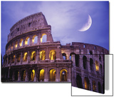 The Colosseum at Night, Rome, Italy Prints by Terry Why