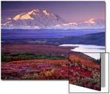 Denali-Nationalpark nahe Wonder Lake, Alaska, USA Kunstdruck von Charles Sleicher
