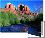 Cathedral Rock Above Oak Creek at Red River Crossing, Sedona, Arizona Prints by David Tomlinson