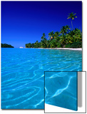 Tropical Lagoon Waters, Aitutaki, Southern Group, Cook Islands Prints by Peter Hendrie
