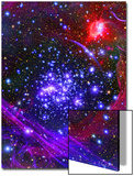 The Arches Star Cluster from Deep Inside the Hub of Our Milky Way Galaxy Kunstdruck von  Stocktrek Images