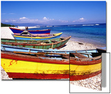 Baharona Fishing Village, Dominican Republic, Caribbean Kunstdruck von Greg Johnston
