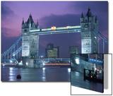 Tower Bridge at Night, London, UK Posters av Peter Adams