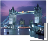 Tower Bridge at Night, London, UK Poster by Peter Adams