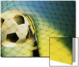 Goalie Holding a Soccer Ball Print
