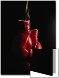 Hanging Boxing Gloves Prints by Ernie Friedlander