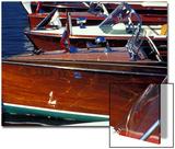 Vintage Wood Boats, Lake Union, Seattle, Washington, USA Posters by William Sutton