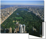 Aerial View of Central Park, NYC Posters av David Ball