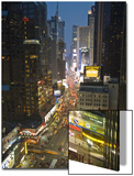 Broadway Looking Towards Times Square, Manhattan, New York City, USA Print by Alan Copson