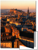 Edinburgh Castle and Old Town Seen from Arthur's Seat, Edinburgh, United Kingdom Poster by Jonathan Smith