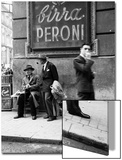 Men in a Street of Napoli Posters