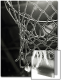 Close-up of a Basketball Net Posters