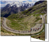 The Pack Climbs the Galibier Pass During the 15th Stage of the Tour De France Print