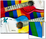 Locally-Crafted Guitars, Cabo San Lucas, Baja California Sur, Mexico Prints by Richard Cummins