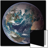 Planet Earth Eastern Hemisphere, NASA Satellite Composite Print by  Stocktrek Images