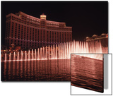 The Bellagio with Fountains at Night, Las Vegas, NV Prints by Michele Burgess