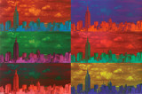 New York Pop Art Skyline Posters