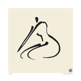 Abstract Female Nude VI Edio limitada por Ty Wilson