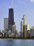 Chicago Skyline and John Hancock Building, Chicago, Illinois Photographic Print by Adam Jones