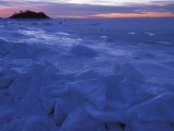 Sea Ice in Buzzards Bay, Cape Cod, Massachusetts, USA Photographic Print by Chris Linder