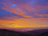 Colorful Clouds at Sunrise over the Southern Appalachian Mountains, North Carolina, USA Photographic Print by Adam Jones