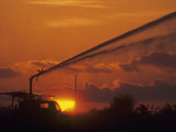 Irrigation from a Truck at Twilight, Florida, USA Photographic Print by Joe McDonald