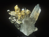 Siderite Crystals on Quartz, Russia Photographic Print by Mark Schneider