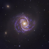 The Spiral Galaxy M100 and Supernova Sn2006X Photographic Print by Robert Gendler