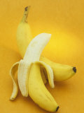 Peeled and Unpeeled Bananas (Musa Accuminata), Cavendish Variety Photographic Print by Wally Eberhart