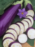 Eggplant, Neon Photographic Print by Wally Eberhart