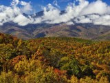 Autumn View of the Southern Appalachian Mountains from the Blue Ridge Parkway, North Carolina, USA Photographic Print by Adam Jones