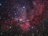 Ngc 7380 Emission Nebula and Open Star Cluster in Cepheus Photographic Print by Robert Gendler