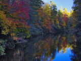 Autumn Colors Reflected on the Linville River, Pisgah National Forest, North Carolina, USA Photographic Print by Adam Jones