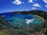Hanauma Bay Is One of Oahu's Most Popular Snorkeling Sites, Hawaii, USA Lmina fotogrfica por David Fleetham