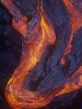 Pahoehoe Lava Flow from the Kilauea Volcano, Hawaii, USA Photographic Print by G. Brad Lewis
