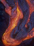 Pahoehoe Lava Flow from the Kilauea Volcano, Hawaii, USA, Photographic Print