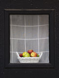 Apples in a Basket in a Window, Charleston, South Carolina, USA Photographic Print by Adam Jones
