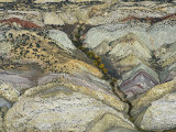 Aerial View of Folded Strata and a Dinosaur Quarry, Dinosaur National Monument, Colorado, USA Photographic Print by Jim Wark