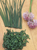 Chives Photographic Print by Wally Eberhart