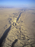 San Andreas Fault and Rift Zone, Carrizo Plain, California, USA Photographic Print by Jim Wark