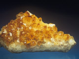 Citrine Crystals, a Variety of Quartz Photographic Print by Mark Schneider