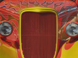 Front End View of an Artistically Painted Hot Rod Car Photographic Print by Adam Jones