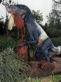 Restoration of Utahraptor, Early Cretaceous, 125 M.Y.A., Utah Dinosaur Photographic Print by Ken Lucas