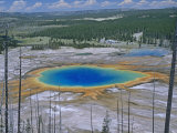 Grand Prismatic Spring, Yellowstone National Park, Wyoming, USA Photographic Print by Gustav W. Verderber
