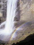 Vernal Falls with a Rainbow at its Base, Yosemite National Park, California, USA Photographic Print by Adam Jones