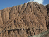 Badlands Topography and Rill Erosion Patterns, Tien Shan Mountains, Kyrgyzstan Photographic Print by Marli Miller