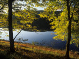Autumn Colors Along Delaware River, Delaware Water Gap National Recreation Area, Pennsylvania, USA Photographic Print by Adam Jones